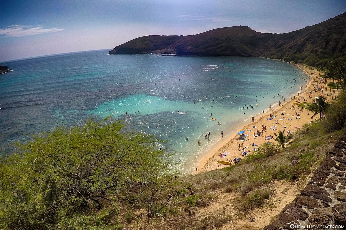 Hanauma Bay, Panorama, Beach, Oahu, Hawaii, USA, Photo spot, Travelreport, Vacation
