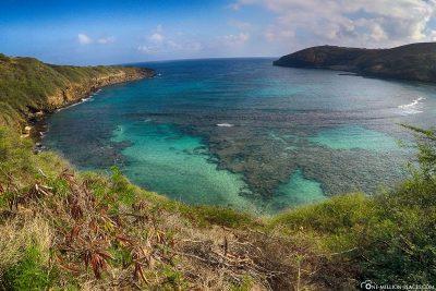 Die Hanauma Bay auf Hawaii