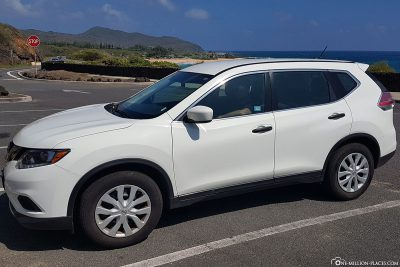 Our rental car from Alamo on Oahu