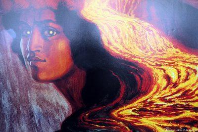 Pelehonuamea, the Hawaiian volcanic goddess