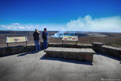 View of Halema'umau Crater