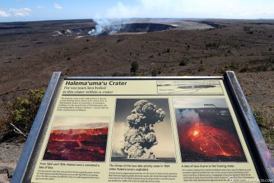 The active Halema'uma'u crater