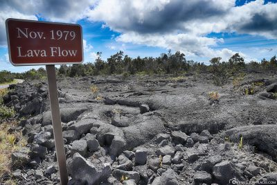 A lava flow from 1979