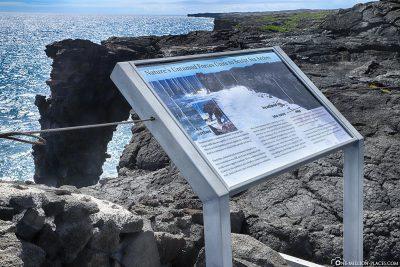Holei Sea Arch Information Board