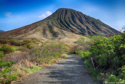 Der Weg vom Parkplatz zum Koko Crater