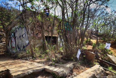 Einer der Bunker am Ende des Trails