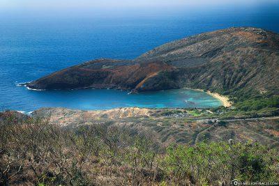 Der Blick auf die Hanauma Bay