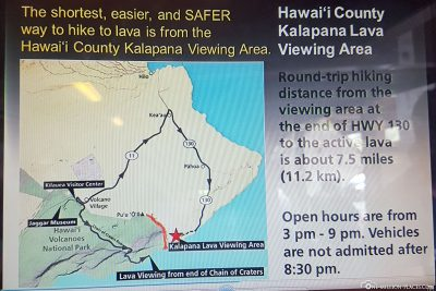 Sign Lava Viewing Area