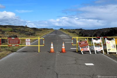 The way to the Lava Viewing Area from the Chain of Craters Road