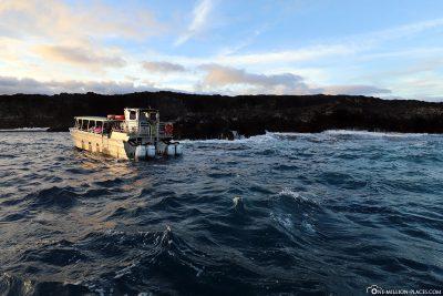Lava Boat Tour auf Big Island