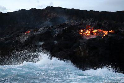 Der Lava Ocean Entry bei Kalapana