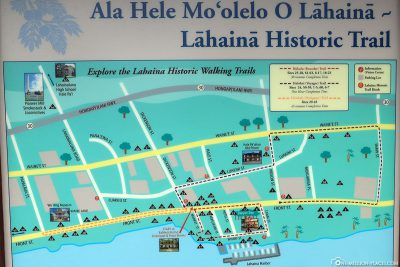 Map of the Lahaina Historic Trail