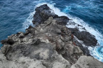 The surf of the Pacific