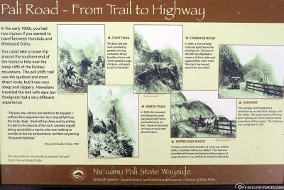 The history of the Pali Highway