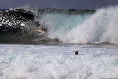 Die Banzai-Pipeline an der North Shore