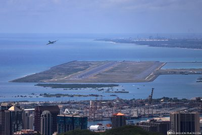 The view of Honolulu Airport