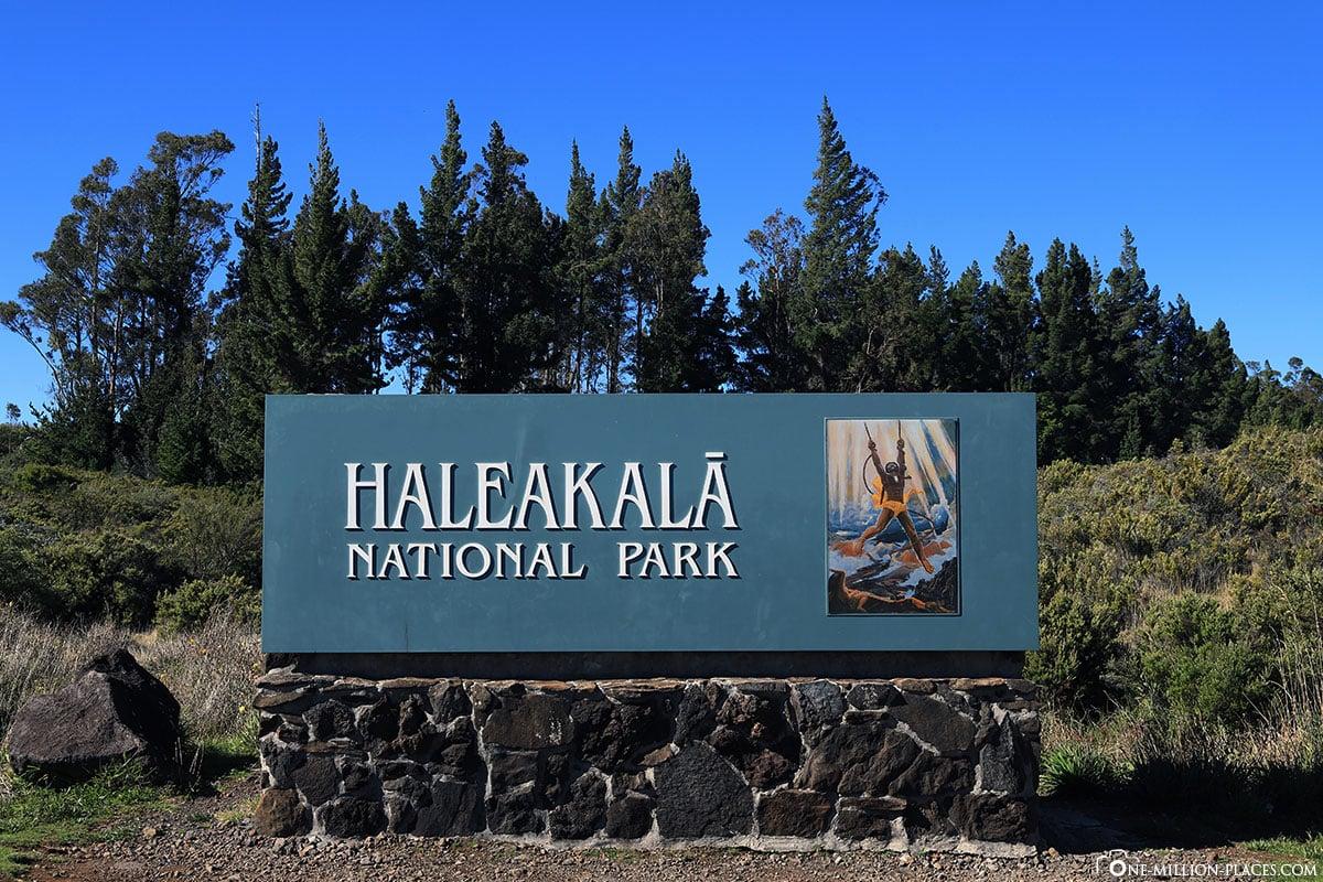Eingang, Haleakala Nationalpark, Maui, Hawaii, USA, Reisebericht