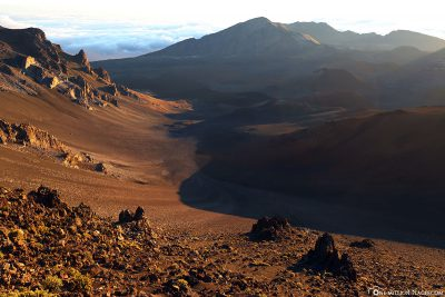 Der Blick in die Kraterlandschaft des Haleakala