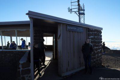 Das Gipfelhäuschen auf 3055 Metern