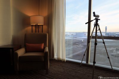 Room view with telescope