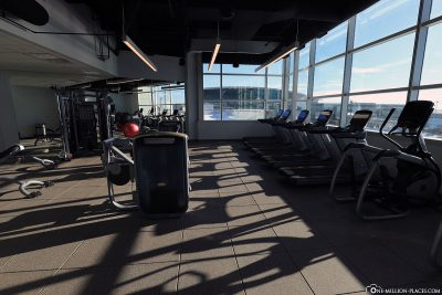 The fitness center at Calgary Airport Marriott In-Terminal Hotel