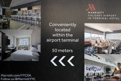 Calgary Airport Marriott Hotel info sign