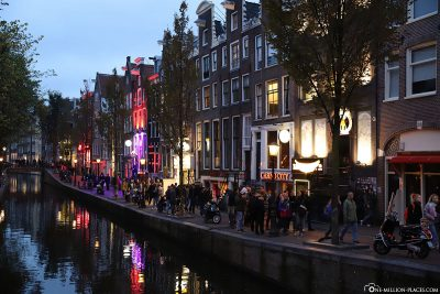 The canals at the Red Light District