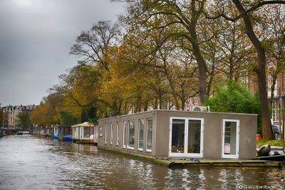 Houseboats on the canals