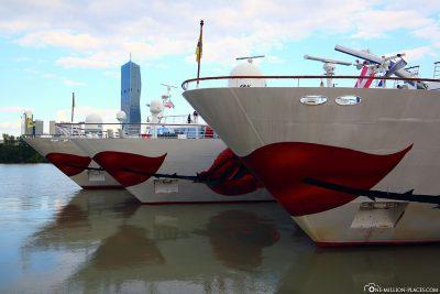 Three A-ROSA ships in Vienna