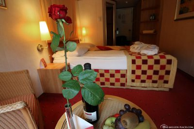 Our cabin on the A-ROSA Bella