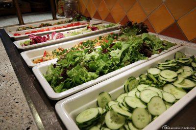 The salad buffet