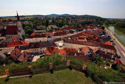 Die Stadt Melk in Österreich