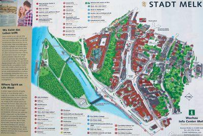 Stadtplan von Melk