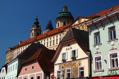 Die Altstadt von Melk mit dem Benediktinerkloster