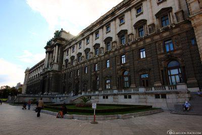 Blick auf die Hofburg vom Burggarten