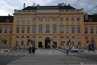 Der Eingang zum MuseumsQuartier
