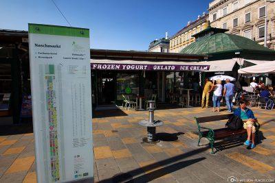 The entrance to the Naschmarkt
