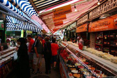 The stalls at the Naschmarkt