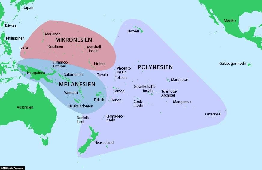 Micronesia, Location, Map, Travelreport