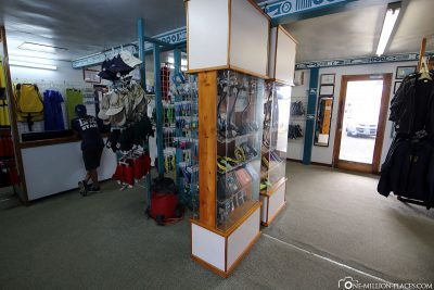 The shop of the diving school