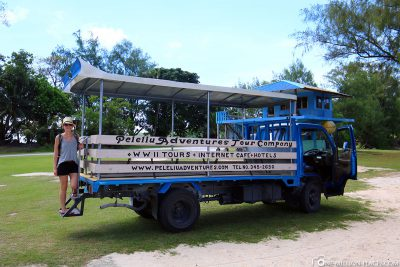 The truck from Peleliu Adventures