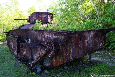 Old tank on Peleliu