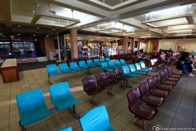 The waiting area of the terminal