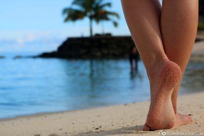 Die Lagune mit Strand