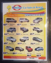 Car rental prices in Palau
