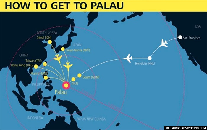 How to get to Palau, travelogue