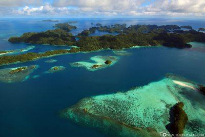 Die Rock Islands in Palau
