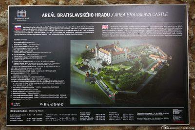 Map of Bratislava Castle