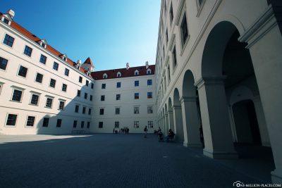 The courtyard of Bratislava Castle