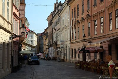 The pedestrian zone in the old town
